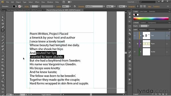 Selecting words and lines of type: Illustrator CS6 One-on-One: Fundamentals