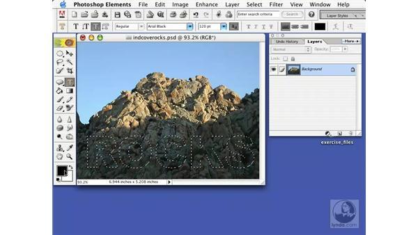 type mask tool: Learning Photoshop Elements 2