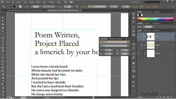 Previewing and assigning fonts: Illustrator CS6 One-on-One: Fundamentals