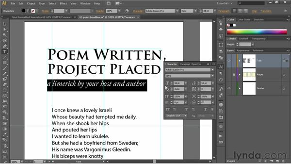 Leading and paragraph indent: Illustrator CS6 One-on-One: Fundamentals