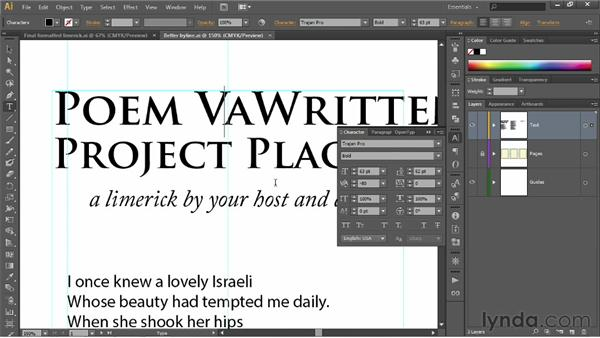 Pair-kerning and tracking: Illustrator CS6 One-on-One: Fundamentals