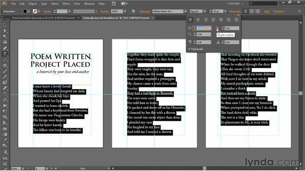 Hanging indents and paragraph spacing: Illustrator CS6 One-on-One: Fundamentals