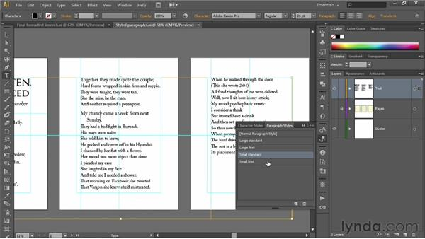 Redefining paragraph styles: Illustrator CS6 One-on-One: Fundamentals