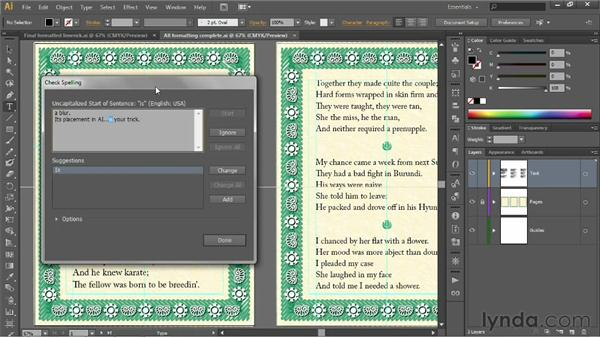 Spell-checking your text: Illustrator CS6 One-on-One: Fundamentals