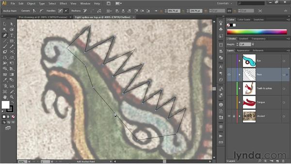 Inserting and removing anchor points: Illustrator CS6 One-on-One: Fundamentals