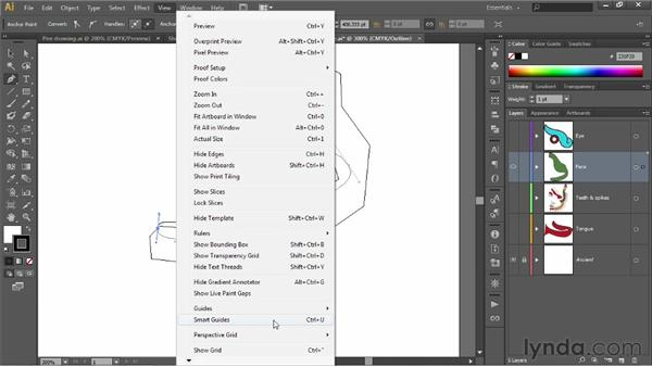Tracing a freeform, curving path: Illustrator CS6 One-on-One: Fundamentals