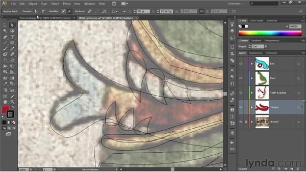 Converting an existing anchor point: Illustrator CS6 One-on-One: Fundamentals