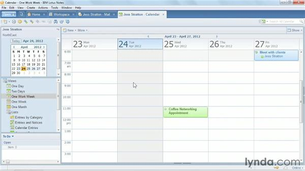 Creating an appointment and a reminder: Up and Running with Lotus Notes