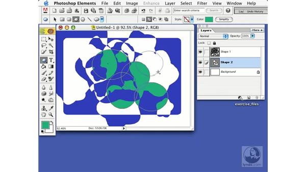 drawing with shapes: Learning Photoshop Elements 2