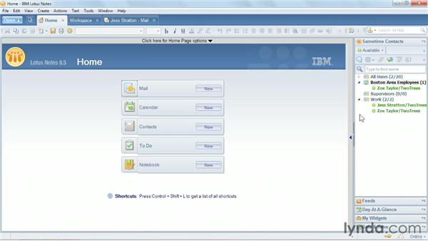 Adding a Sametime group to a sidebar: Up and Running with Lotus Notes