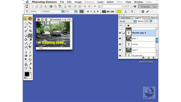 making an animated web banner: Learning Photoshop Elements 2