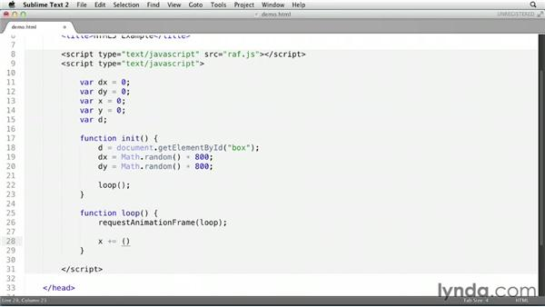 Animating DOM elements: HTML5 for Flash Developers