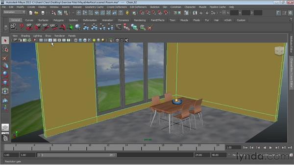 Configuring Maya viewports: Maya Essentials 1: Interface and Organization