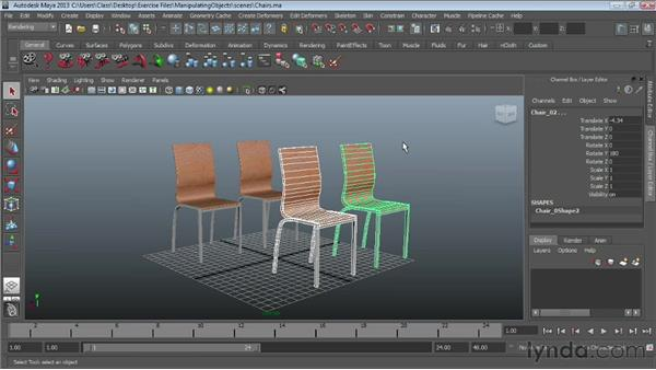 Selecting objects : Maya Essentials 1: Interface and Organization