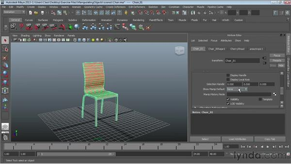 Working with the Attribute Editor : Maya Essentials 1: Interface and Organization