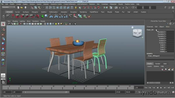 Naming objects: Maya Essentials 1: Interface and Organization
