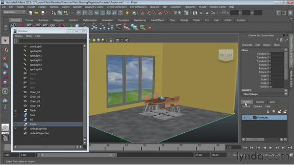 Creating layers : Maya Essentials 1: Interface and Organization