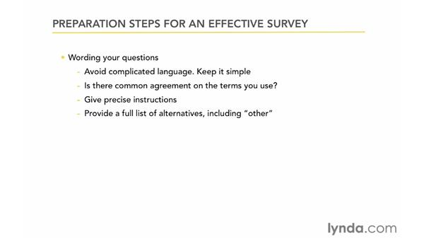 Preparing an effective survey: Up and Running with Online Surveys