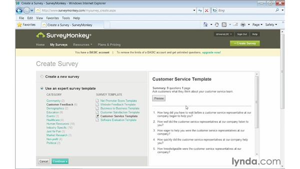 Creating a new form: Up and Running with Online Surveys