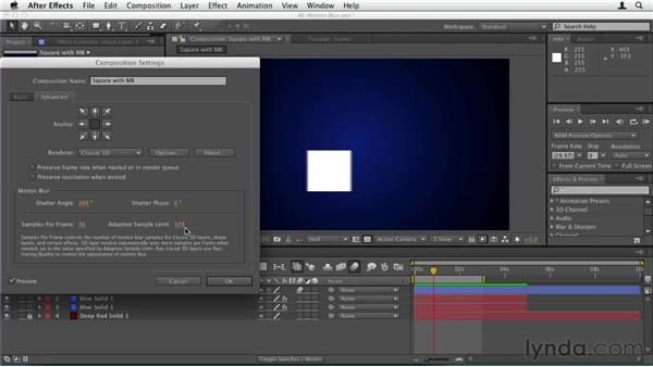 031 Creating motion blur in After Effects: Design in Motion