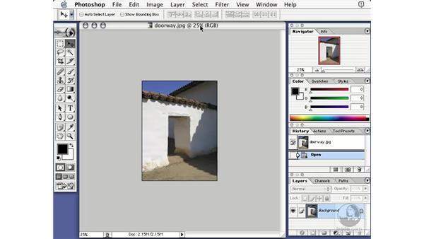 the photoshop document: Learning Photoshop 7