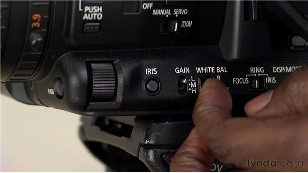 White balancing a shot: Foundations of Video: Cameras and Shooting