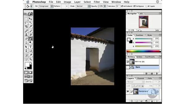 changing matte: Learning Photoshop 7