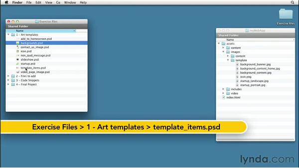 Creating the template graphics: Create an iPad Web App