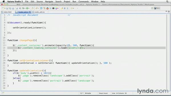 Loading the homepage via AJAX: Create an iPad Web App