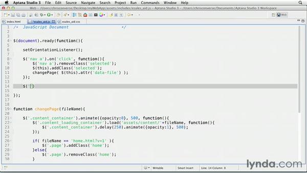 Detecting the homepage: Create an iPad Web App