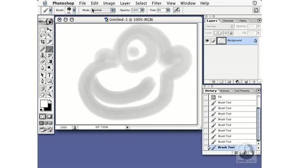 undo and redo: Learning Photoshop 7