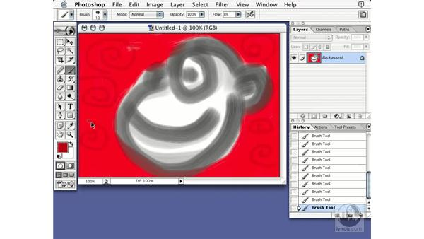 history snapshots: Learning Photoshop 7