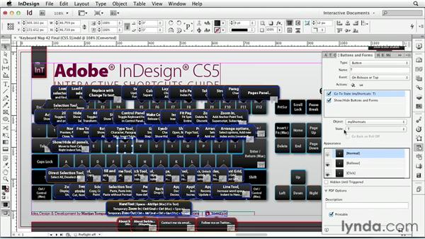 Case study: tomaxxi's InDesign shortcuts guide: InDesign CS6: Interactive Documents