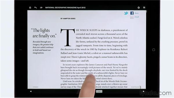 Reviewing digital magazines: National Geographic: InDesign CS6: Interactive Documents