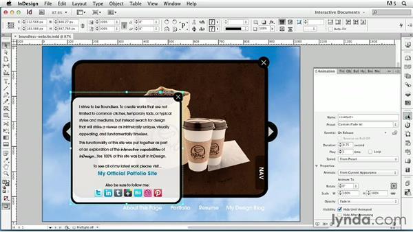 Exploring iamboundless.com: InDesign CS6: Interactive Documents