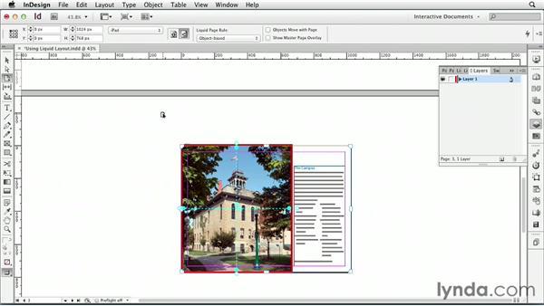 Using Liquid Layout: InDesign CS6: Interactive Documents