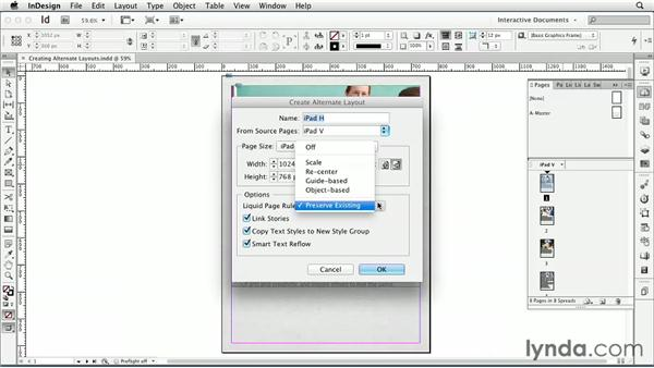 Creating alternate layouts: InDesign CS6: Interactive Documents