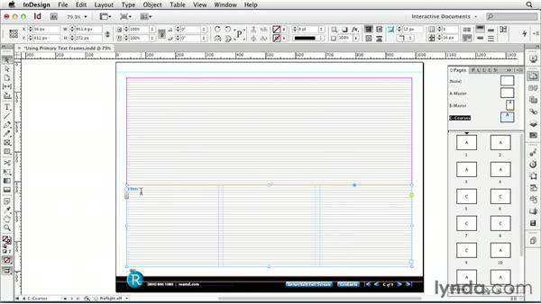 Using primary text frames: InDesign CS6: Interactive Documents