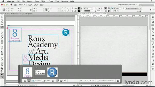 Using the Content Conveyor: InDesign CS6: Interactive Documents