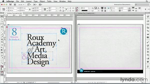 Linking text: InDesign CS6: Interactive Documents