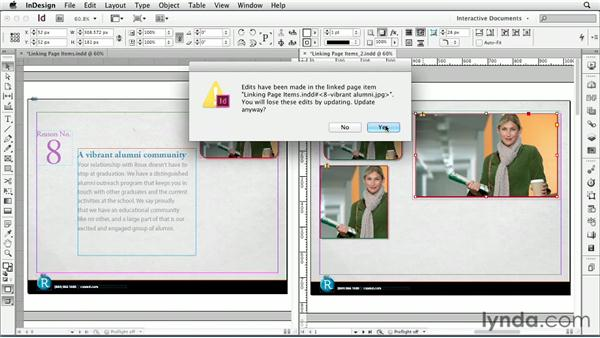 Linking page items: InDesign CS6: Interactive Documents