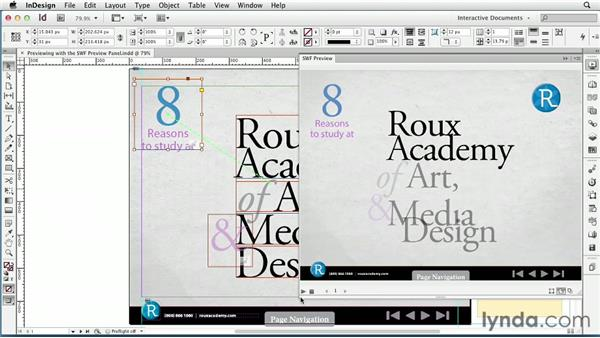 Previewing with the SWF Preview panel: InDesign CS6: Interactive Documents