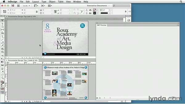 Presentation design tips: InDesign CS6: Interactive Documents