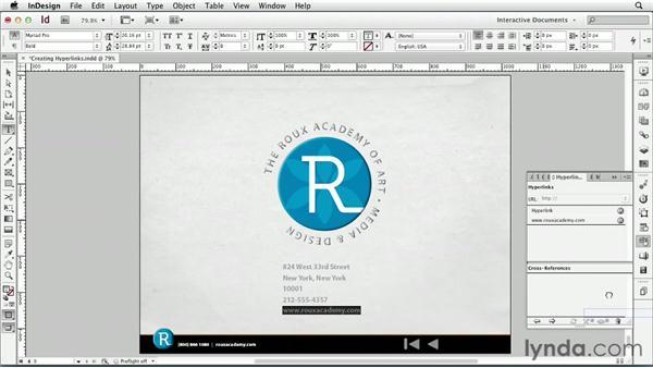 Creating hyperlinks : InDesign CS6: Interactive Documents
