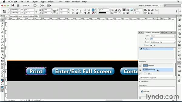Creating PDF-only buttons : InDesign CS6: Interactive Documents