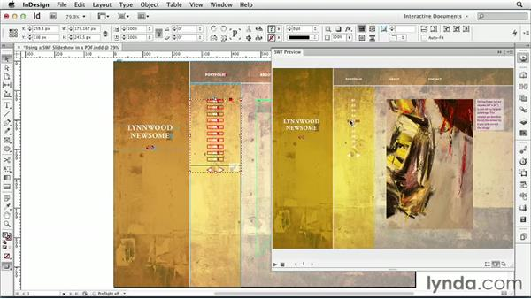 Using a SWF slideshow in a PDF : InDesign CS6: Interactive Documents