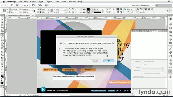 Placing a video from a URL : InDesign CS6: Interactive Documents