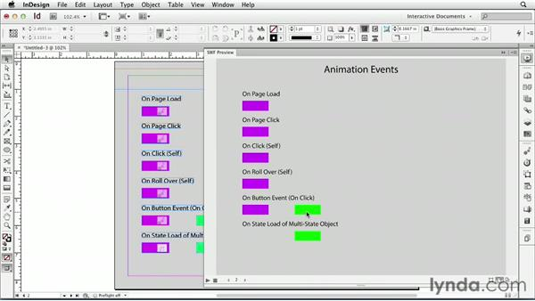 Exploring the Animation Encyclopedia script : InDesign CS6: Interactive Documents