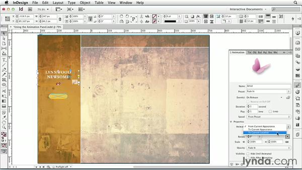 Using the Animation panel : InDesign CS6: Interactive Documents