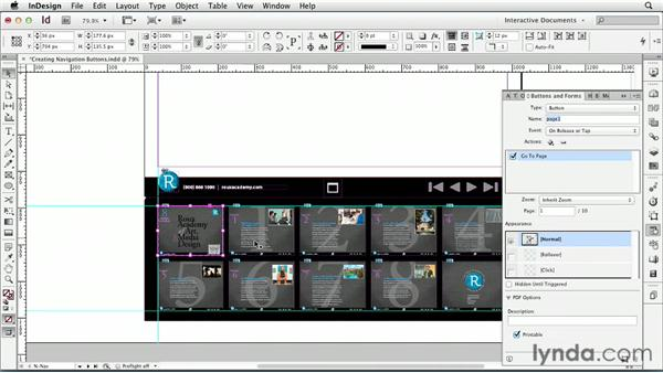 Creating navigation buttons: InDesign CS6: Interactive Documents